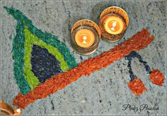 Rangoli Designs Flower, Rangoli Ideas, Colorful Rangoli Designs, Rangoli Designs Diwali, Rangoli Designs Images, Flower Rangoli, Janamashtami Decoration Ideas, Ganpati Decoration At Home, Diwali Decorations At Home