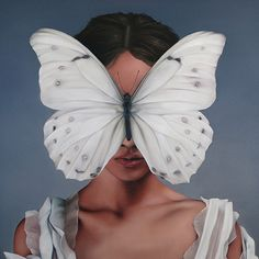 Hicks Gallery represents some of the UKs most saught after artists including Amy Judd, Caroline Yates, Bruce Mclean, Tania Rutland. Painted Woman with a butterfly in her face. Art Sketches, Art Drawings, Butterfly Art, Fashion Painting, Surreal Art, Aesthetic Art, Portrait Art, Art Inspo, Art Girl