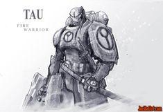Tau fire warrior concept art (Unused)