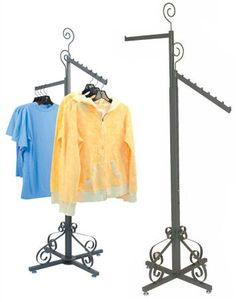 Clothing Rack Elegant Garment Display Store