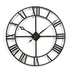 """Found it at Wayfair - Gallery Oversized 32"""" Lacy Quartz Wall Clock"""