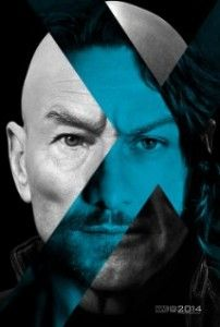 """A teaser poster for """"X-Men: Days of Future Past,"""" showing Patrick Stewart and James McAvoy as iterations of the character Charles Xavier/Professor X. Design by BLT Communications, LLC, Hollywood. James Mcavoy, Michael Fassbender, Man Movies, Movies To Watch, Good Movies, Movies 2014, Movie Tv, Movie Blog, Charles Xavier"""