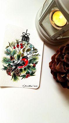 Originální vánoční pohlednice - přírodní ozdoba