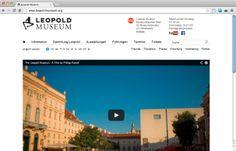 Eine weltbekannte Sammlung und das dazugehörige Leopold Museum wurde von echonet runderneuert und mit einem responsive Webdesign ausgestattet.  Leopold Museum | www.leopoldmuseum.org | 2014 | Startseite © echonet communication GmbH
