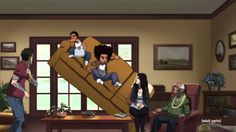 Back on tomorrow baby! #GetFamiliar Boondocks Season 4 Official Trailer