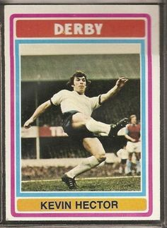 TOPPS-FOOTBALL ERS BLUE BACK 1976-#169- DERBY COUNTY - KEVIN HECTOR