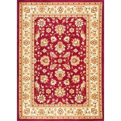 "Charlton Home Baxter Red Area Rug Rug Size: 4'1"" x 6'"
