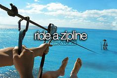 Okay I rode a zipline. But into the water? Omg. I'm terrified but I think I would have to do it once.