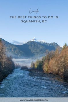 Situated half way between Vancouver and Whistler on the scenic Sea to Sky Highway, Squamish lies at the northern tip of Howe Sound. In this blog post I'm sharing the best things to do in Squamish. From beautiful mountain hikes to scenic lakes, if you're thinking of planning a weekend getaway to Squamish, here are a few activities and sights that you can't miss. Usa Travel Guide, Travel Usa, Travel Tips, North America Destinations, Canada Destinations, Stuff To Do, Things To Do, How To Memorize Things, Brandywine Falls