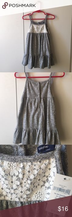 👗 NWT baby Gap knit dress 👗 Cute knit dress with lace. Knit is medium weight and soft. GAP Dresses Casual