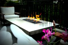 Propane Outdoor Fire Pit Table, Natural Gas Fire Tables - Cooke Furniture