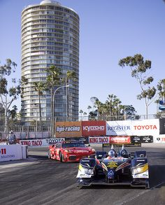 Grand Prix in Long Beach, CA... <3 Yesss, every year the Grand Prix is run in downtown Long Beach, and you can hear the scream of the engines for quite a distance..Danica Patrick used to run this race, and could be seen, with the other drivers, enjoying the night life <3