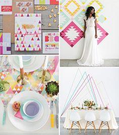 Geometric Wedding Decor | A Hot Trend for 2016 Weddings! | www.onefabday.com