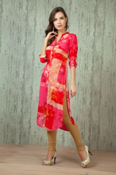 Crepe digital print kurti from #Benzer #Benzerworld #Indowesternwear #womenswear