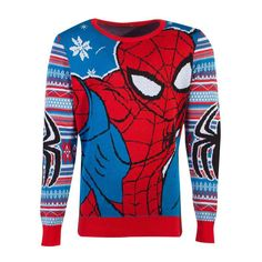 Buy Marvel Spider-man Knitted Christmas Sweater, Unisex, Extra Extra Large, Multi-colour - For Only VAT) Online from SmartTeck. See our other Marvel products. Black Spiderman, Amazing Spiderman, Spiderman Lego, Comics Spiderman, Nick Fury, Spider Verse, Mascara Spiderman, Christmas Knitting, Winter