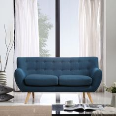 Top Advice On Scandinavian Petrol Blue Armchair 2 - casitaandmanor Scandinavian Sofas, Scandinavian Style, Two Seater Couch, Clean Couch, Cool Couches, Retro Sofa, Beautiful Sofas, Mid Century Sofa, Affordable Furniture