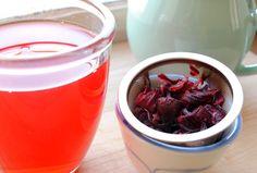 "Hibiscus Tea featuring ""Teaspoons and Petals"" Loose Leaf Hibiscus Tea sweetened with Cream Honey http://blog.sanuraweathers.com/2011/03/teaspoons-petals-hibiscus-tea/"