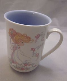 Precious Moments Rachel Coffee Mug Cup Lavendar Purple Good Natured Blessed