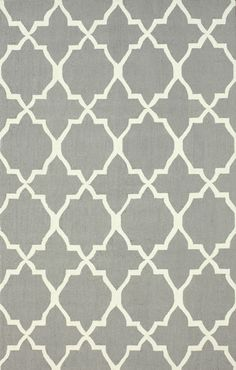NJHK65A, Grey, Hand Hooked, Nuloom, Trellis available from rugsdoneright.com