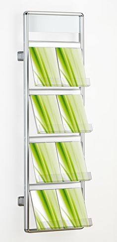 wall mounted literature rack and brochure holder www.discountdisplays.co.uk