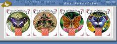 GB15906a Butterflies (Apatura iris, Daphnis nerii, Fabriciana Niobe, Hypolimnas salmacis)