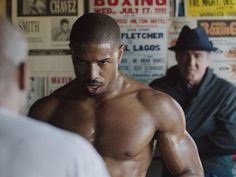 Michael B. Jordan. Oh. My. GOD!!!!!! I'm going to see this CREED movie come hell or high water.