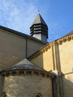 Chevet, cathédrale romane Notre-Dame de l'Assomption (XIIe siècle), Lescar, Béarn, Pyrénées Atlantiques, Aquitaine, France.
