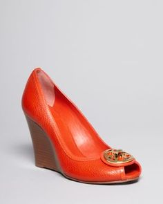 01d3aff0dcae Tory Burch Open Toe Wedge Pumps - Selma High Heel Shoes - All Shoes -  Bloomingdale s