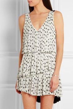 Sonia Rykiel | Pleated printed crepe mini dress | NET-A-PORTER.COM