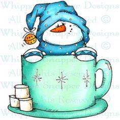 snowman in cocoa