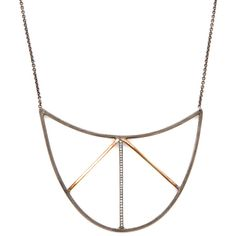 Zoë Chicco Diamond Accented Breastplate Arrow Necklace ($545) ❤ liked on Polyvore featuring jewelry, necklaces, no color, zoe chicco jewelry, round diamond necklace, 14 karat gold jewelry, diamond accent jewelry and zoe chicco necklace