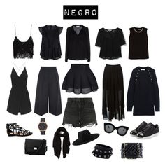 """Negro"" by laurabotero88 on Polyvore featuring Zara, Rebecca Minkoff, Erdem, Milly, MANGO, Topshop, Alexander Wang, Étoile Isabel Marant, Chloé and adidas Originals"