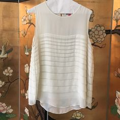 Vince Camuto Blouse size Large Color -Beige, Material-100 percent polyester, condition-Excellent Vince Camuto Tops Blouses
