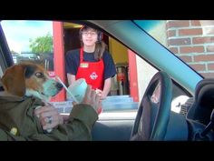 July 24th is Drive-Thru Day, a day to celebrate getting tasty treats on the go from the comfort of your car, and no one loves a car ride more than our dogs.Watch these funny pups getting snacks from the drive-thru!