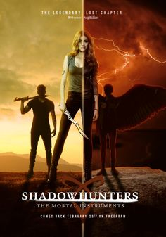"""""""I can feel it. Which side will Clary choose? Tune in February for the return of shadowhunters! Shadowhunters Series, Shadowhunters The Mortal Instruments, Clary Et Jace, Clary Fray, Teen Wolf, Shadow Hunters Tv Show, Jace Wayland, Clace, City Of Bones"""