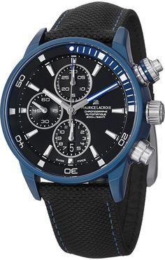 Maurice Lacroix Pontos S Extreme Men's Automatic Chronograph Blue Aluminium Watch PT6028-ALB11-331