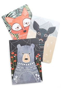 More Than a Critter Bit Notebook Set - Multi, Critters, Woodland Creature, Good, Print with Animals, As You Wish Sale, Top Rated