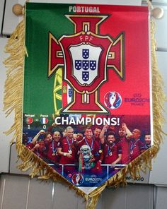 Portugal Euro 2016 champions campeoes flag, Ronaldo 27cm x18 cm Pennant | eBay