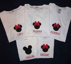 Mickey and Minnie Applique T Shirts