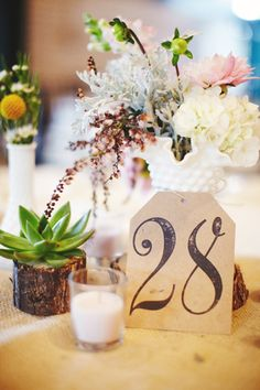 simple yet elegant table numbers