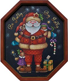 Be Jolly By Golly painting pattern by Kay Quist Creations