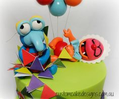 Baby Muppets Gonzo Animal Fondant Cake Topper | by Custom Cake Designs