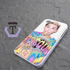 Miley Cyrus Eat Ice Cream Cone iPhone 4|iPhone 4S Black Case