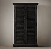 Shutter Single Armoire | Wood Shelving & Cabinets | Restoration Hardware