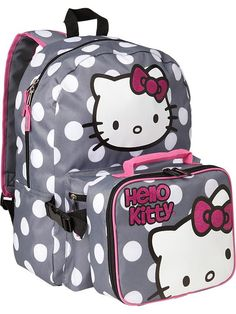 Old Navy | Girls Hello Kitty Backpacks i have this back pack and lunch pal the lunch pal is a rip off