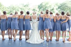 Pantone Rose Quarts + Serenity Wedding Inspiration - Style Me Pretty Pantone 2016, Lauren Jackson, Wedding Bridesmaids, Wedding Dresses, Blue Bridesmaids, Rose Quartz Serenity, Bridesmaid Dress Colors, Before Wedding, Bridesmaids