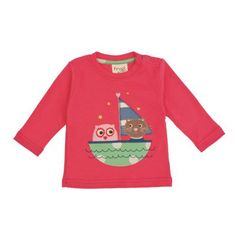 Buy Frugi Baby Organic Cotton Owl and Pussycat Top, Raspberry, Months from our Baby & Toddler Tops range at John Lewis & Partners. Organic Baby, Organic Cotton, Baby Wearing, Casual Looks, Cute Babies, Christmas Sweaters, Girl Outfits, Long Sleeve, T Shirt