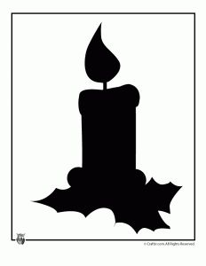 Holiday Candle Silhouette