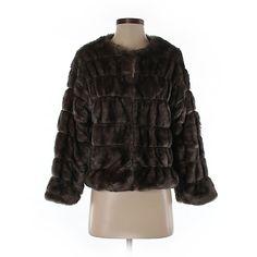 Zara Faux Fur Jacket (€58) ❤ liked on Polyvore featuring outerwear, jackets, grey, grey faux fur jacket, faux fur jacket, gray jacket, grey jacket and gray faux fur jacket
