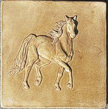 kitchen or bath bas relief horse tiles